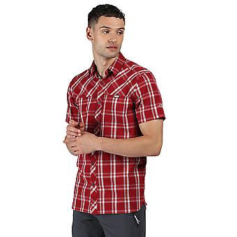 Regatta Mens Honshu V Cotton Checked Korte Mouwen Shirt