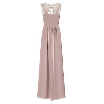 Little Mistress Womens/Ladies Mink Pearl Yoke Maxi Dress
