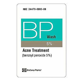 Biocomp pharma benzoyl peroxide wash 5%, acne treatment, 8 oz