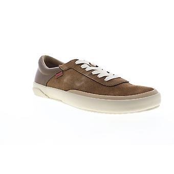 Camper Peu Rambla Rail  Mens Brown Suede Low Top Euro Sneakers Shoes