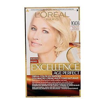 Permanent Anti-Aldring Fargestoff Excellence Alder Perfekt L'Oreal Expert Professionnel Lys gylden blonde