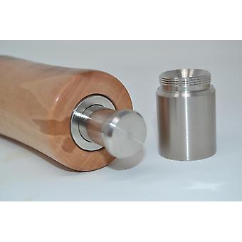 Træ enkelt hånd krydderi kværn mill fra pære peberkværn, salt mill af peber spice salt mill håndlavede lavet i Østrig gave gaveide