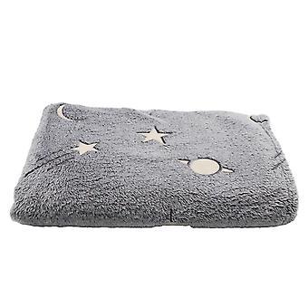 Hvězdná obloha korálové fleece deka