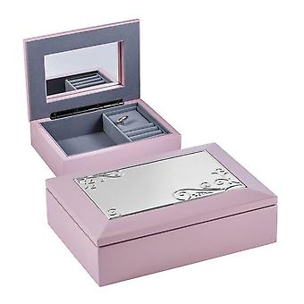 Orton West Music Jewellery Box - Pink/Silver