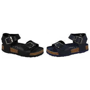 JCDees Boys Synthetic Buckle Ankle Strap Sandals