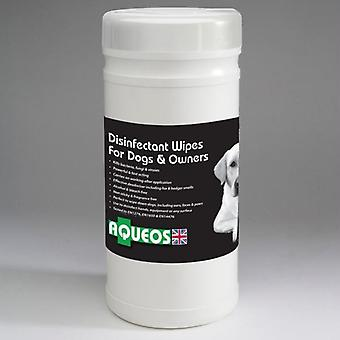Aqueos Dog Sanitising Wipes Tub