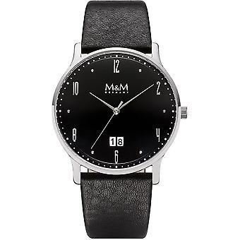 M&M Germany M11940-446 Flat design Men's Watch