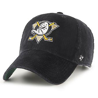 47 Brand Relaxed Fit Cap - KORD Anaheim Ducks washed black