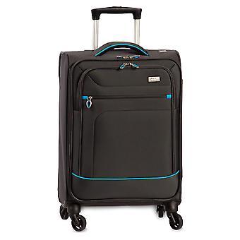 Fabrizio Globetrotter Hand Luggage Trolley S, 4 ruote, 56 cm, 27 L, grigio