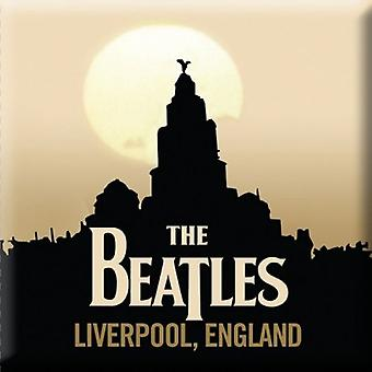 The Beatles Fridge Magnet Liverpool band logo new Official 76mm x 76mm