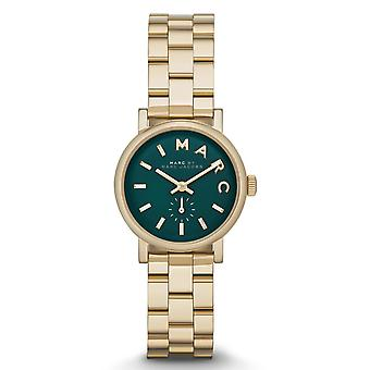 Marc Jacobs MBM3249 Gold Tone Stainless Steel Hunter Green Ladies Watch