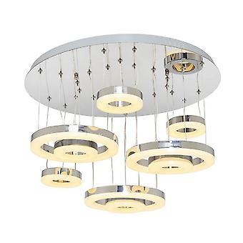 Lampe pendentif Chrome en métal 6, acrylique 56x56x32 cm
