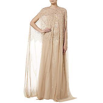 Guld cape och klänning