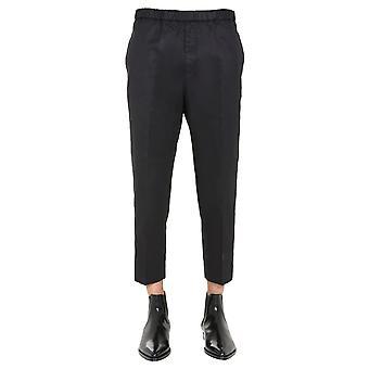 Jil Sander Jsmr311818mr243800001 Men's Black Cotton Pants