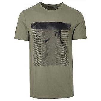 Antony Morato esporte tripulação pescoço ' Animal Kingdom ' verde T-shirt