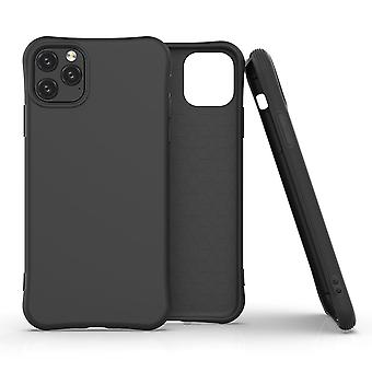 For iPhone 11 Pro Max Case Solid Slim Case Protective Cover Black