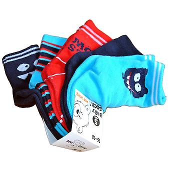 Chaussettes 5- pack - Monster, Blue, 16/18