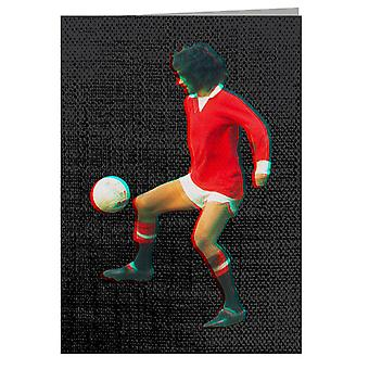 TV Times George Best Playing With Manchester United Greeting Card