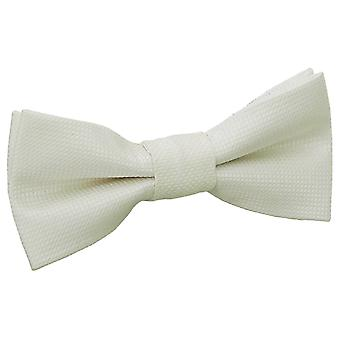 Ivory Solid Check Pre-Tied Bow Tie for Boys