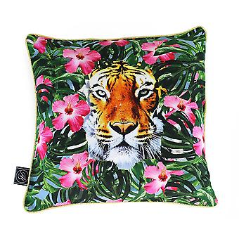 Ashleigh e Burwood Wild Things Luxury Duck Down Feather Cushion Crouching Tiger