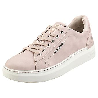 Mustang Low Top Sneaker Womens Platform Trainers in Rose