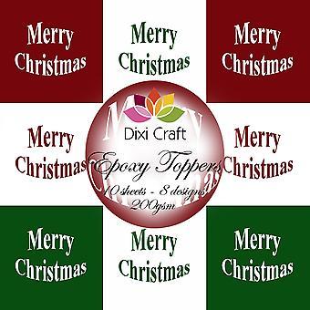 Dixi Craft Epoxy Toppers 14 Hyvää joulua