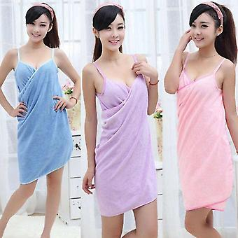 Women Bathrobe Bath Wearable Towel - Fast Drying Beach Spa Magical Towel Dresser