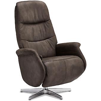 Furnhouse Brown Fabric Recliner Delta, 1 Seater, 90x79x114 cm