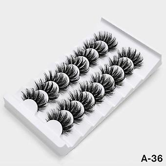 Natural Long 3d Faux Mink Eyelashes Thick Handmade Full Strip Lashes Volume