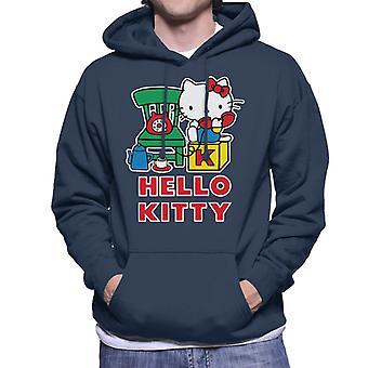 Hello Kitty talking päällä the puhelin miehet&s hupullinen collegepaita