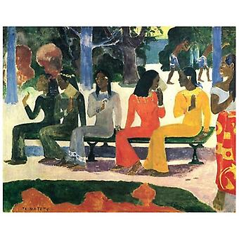 Print on canvas - Ta Matete - Paul Gauguin - Painting on Canvas, Wall Decoration