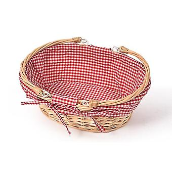 Picnic Basket Wicker Baskets Outdoor Deluxe Gift Storage