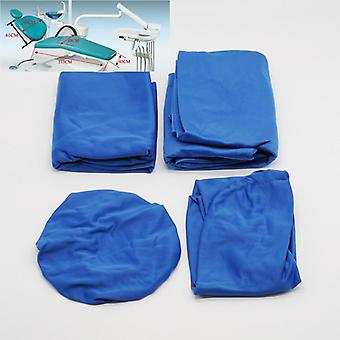 4 Pcs/set Dental Chair Cover Protector - Washable Elastic Cotton Seat Protective Case For Dentist Lab Equipment