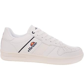 Ellesse Mens Classic Jude Lace Up Limited Edition Low Rise Trainers - White