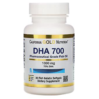 California Gold Nutrition, DHA 700 Fish Oil, Pharmaceutical Grade, 1,000 mg, 30