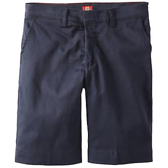 Dickies Big Girls' Plus Stretch Bermuda Short, Dark Navy, 14.5