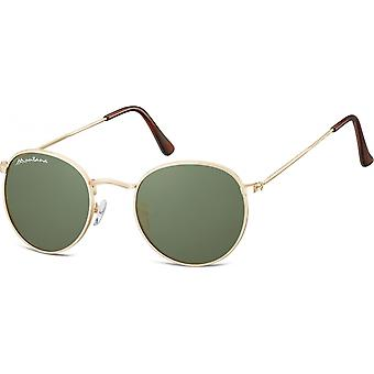 Sunglasses Unisex Cat.3 gold/green (S92E)