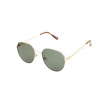 Solbriller Unisex guld/grøn