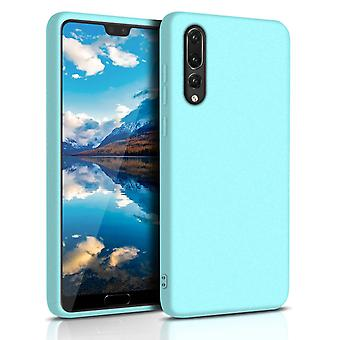 Protection mobile douce pour Huawei P30 Shockproof Phone Thin Mobile Case TPU Turquoise