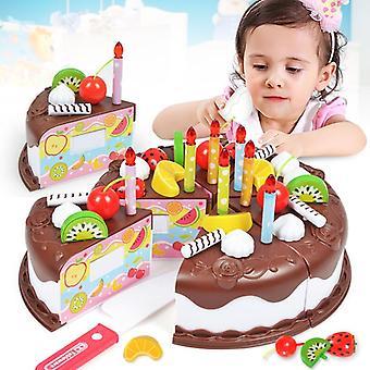 Diy Set von vorgeben spielen Obst Kuchen Spielzeug