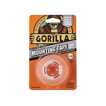 Gorilla 3044101 Heavy Duty Mounting Tape 1.5m Clear