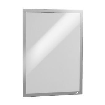 Durável 488323 Info frame Duraframe (A3, autoadesivo com fecho magnético) 6 peças, prata