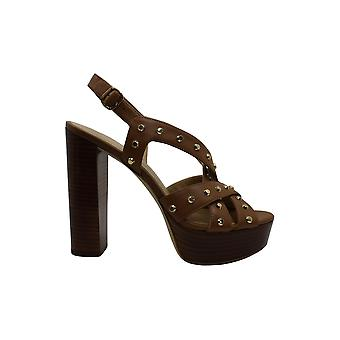 Michael Michael Kors Women's Shoes Audrina Platform Leather Open Toe Special ...