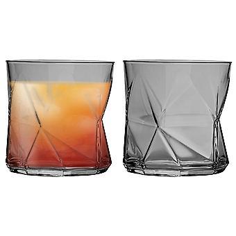 Bormioli Rocco Cassiopea Becher Gläser - 330ml (11,25 Unzen) - grau - Set von 2