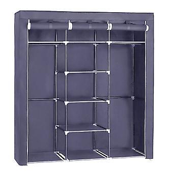 Herzberg HG-8011: Kleiderschrank - Grau