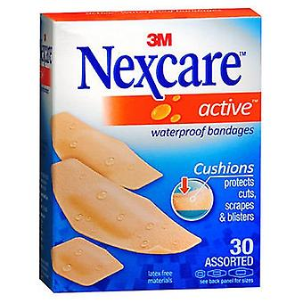 3M Nexcare Active Waterproof Assorted Bandages, 30 Each