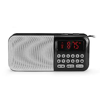 Portable DC 5V 70-108MHz FM Radio TF Card USB AUX Speaker Audio Player