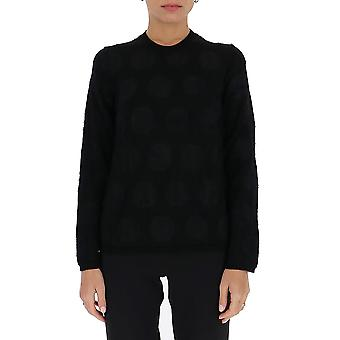Comme Des Garçons N0050511 Women's Black Wool Sweater