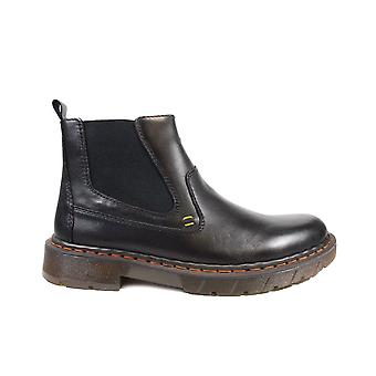 Rieker 32662-00 Black Leather Mens Chelsea Boots