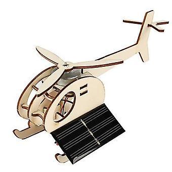 Trä Creative Vetenskapliga Leksaker Diy Mini Solar Flygplan Produktion Vetenskap &